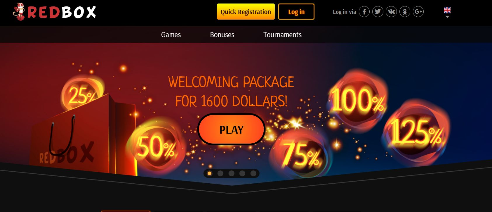 Redbox Casino - Официальный сайт